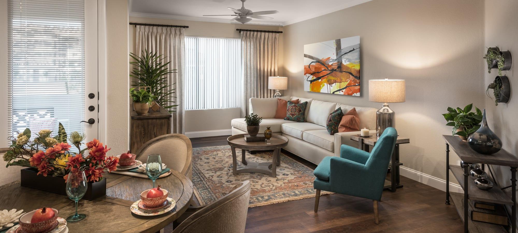 Cozy living room at San Artes in Scottsdale, Arizona