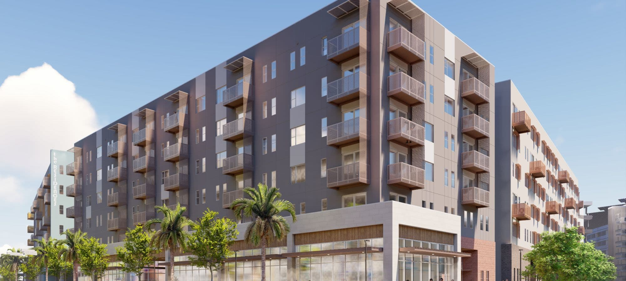 Rendering of the exterior of The Piedmont in Tempe, Arizona