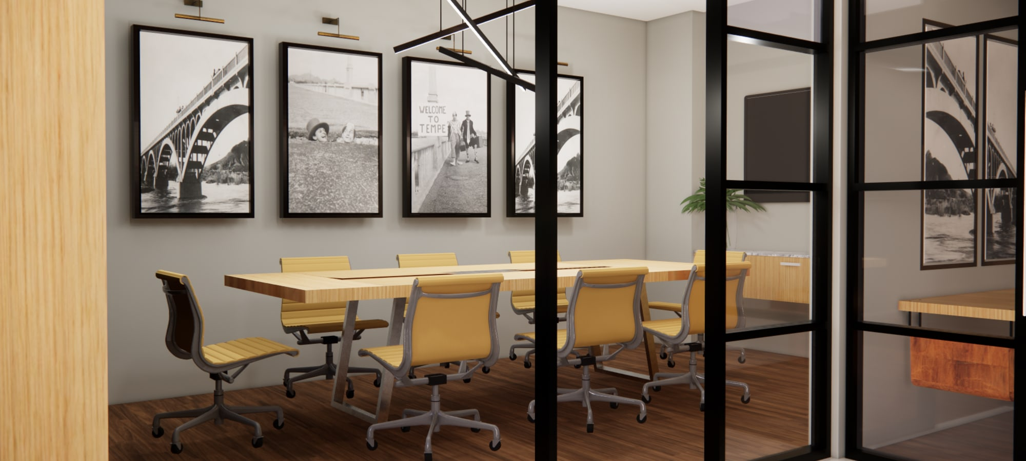 Rendering of conference room at The Piedmont in Tempe, Arizona