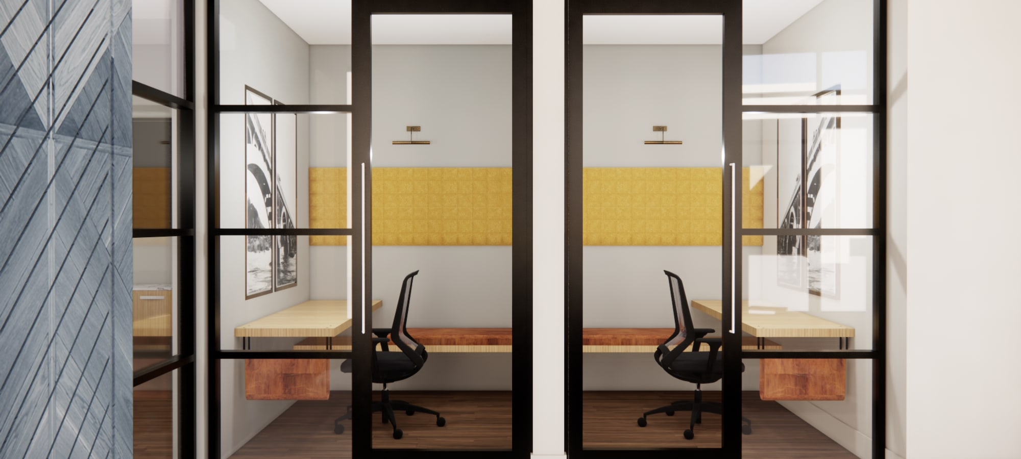 Rendering of office spaces residents can use at The Piedmont in Tempe, Arizona