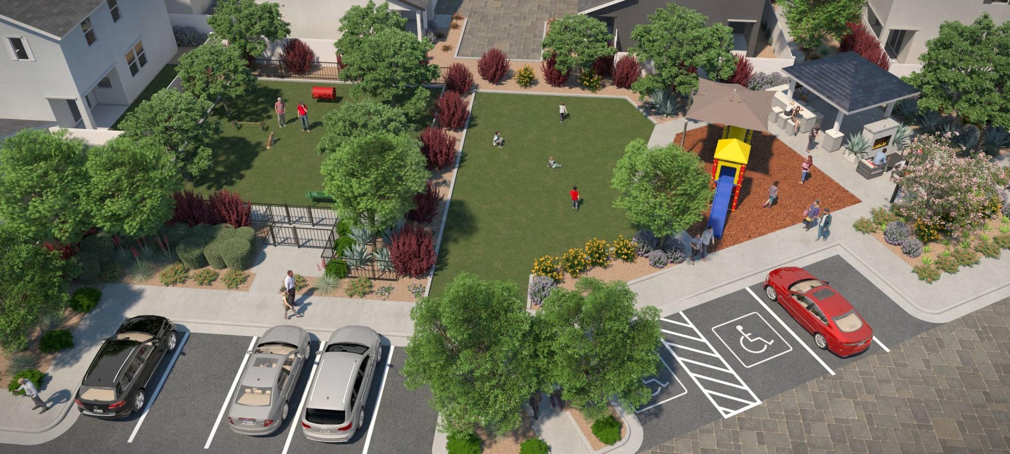 Community park at Cyrene at Estrella in Goodyear, Arizona