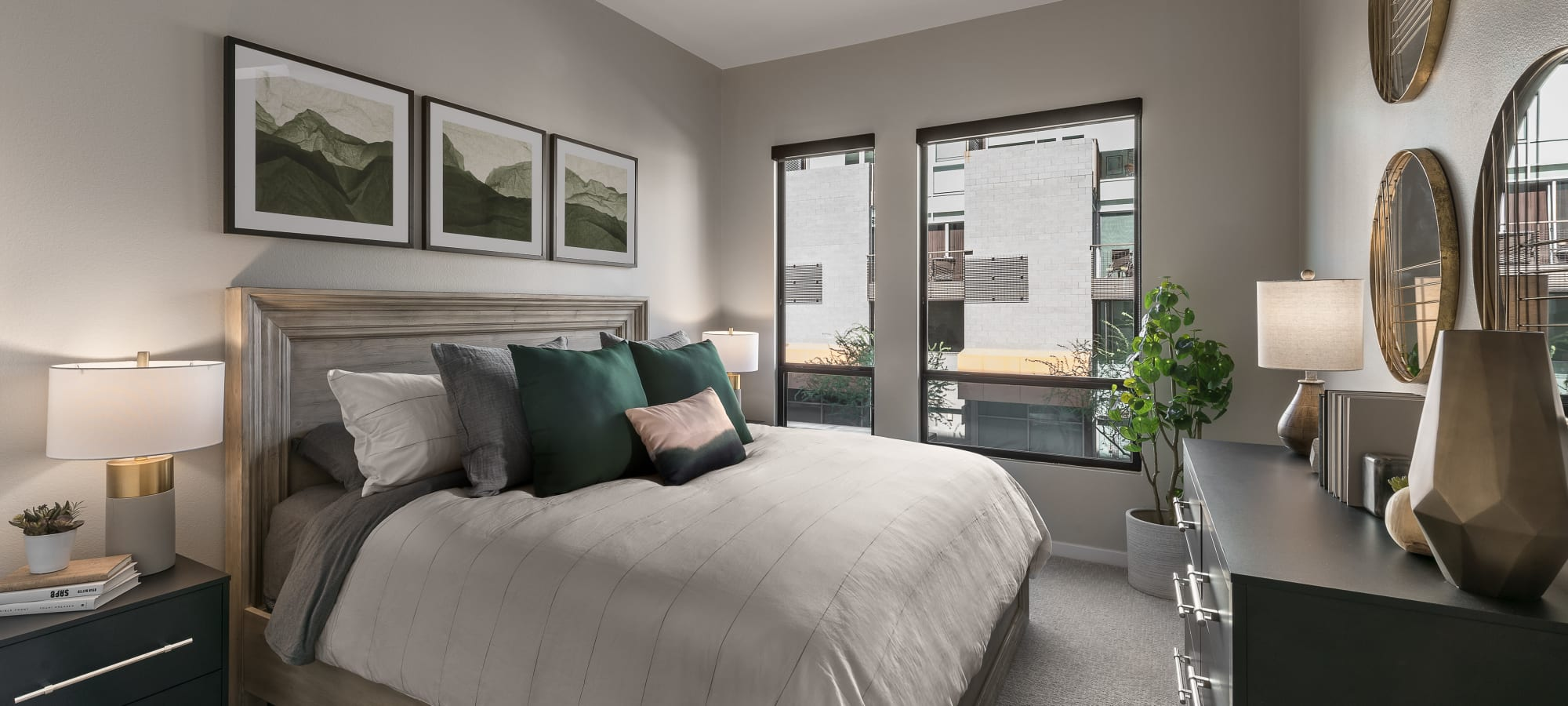 Lavish master bedroom at Gramercy Scottsdale in Scottsdale, Arizona