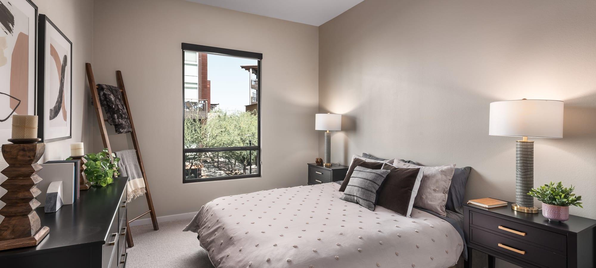 Modern second bedroom at Gramercy Scottsdale in Scottsdale, Arizona