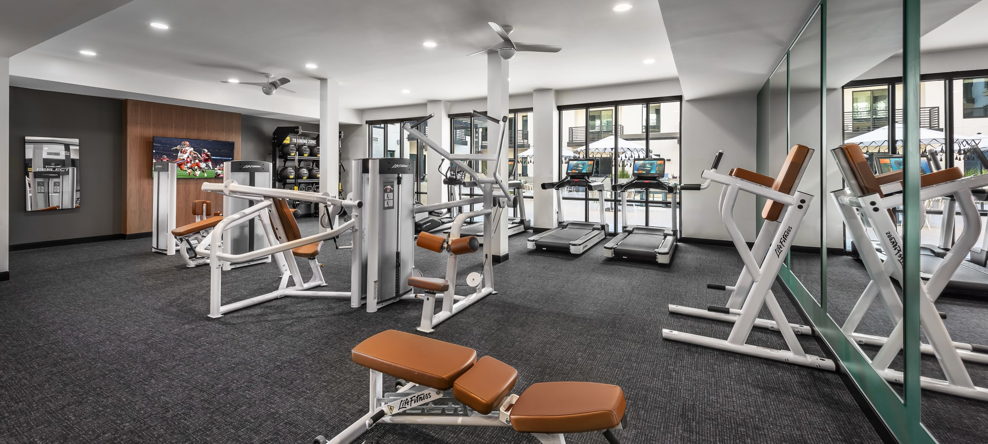 Modern fitness center at Gramercy Scottsdale in Scottsdale, Arizona