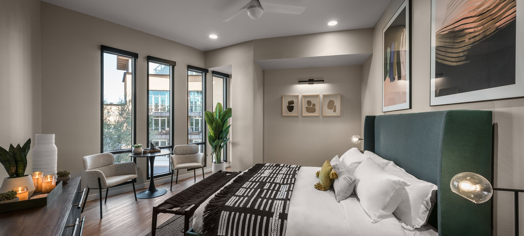 Comfortable guest suite at Gramercy Scottsdale in Scottsdale, Arizona