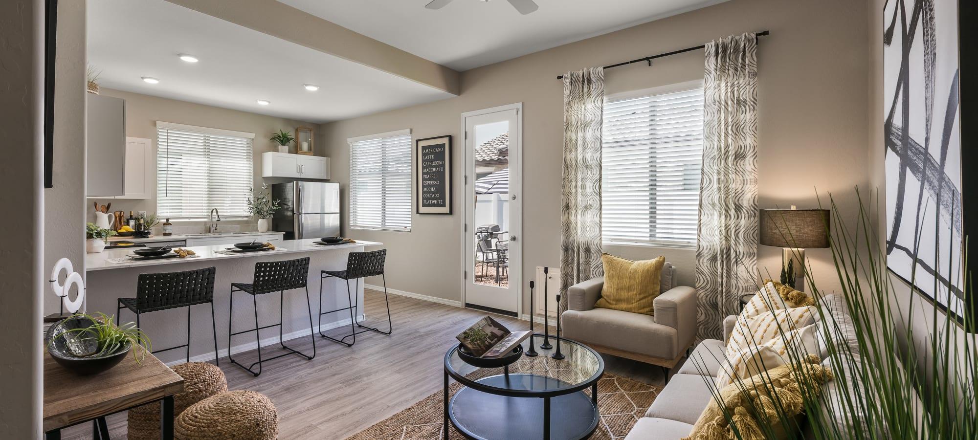Lavish living room at TerraLane at Canyon Trails in Goodyear, Arizona