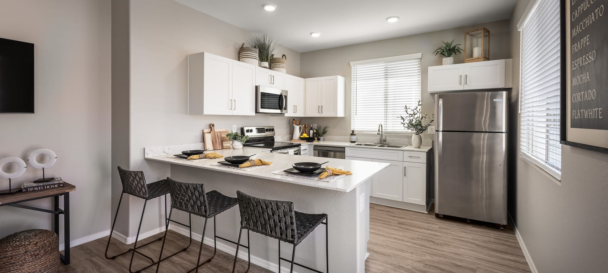 Interior kitchen at TerraLane at Canyon Trails in Goodyear, Arizona