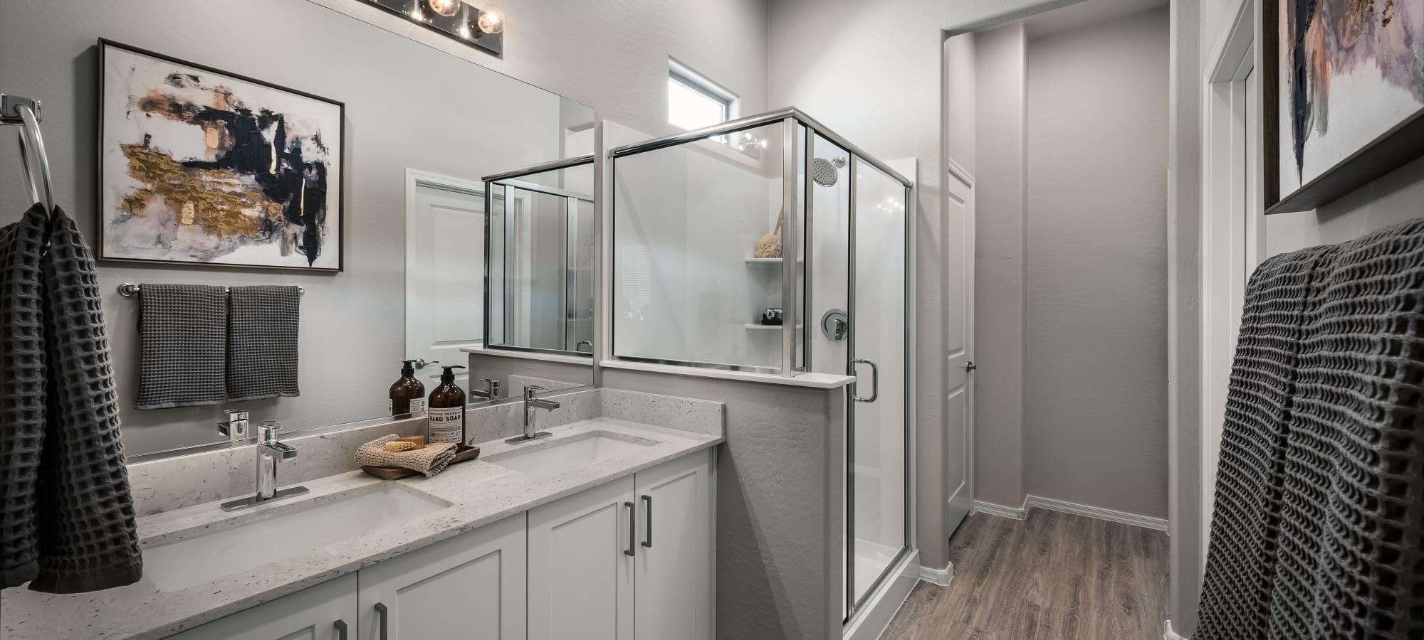 Inviting bathroom at TerraLane at Canyon Trails in Goodyear, Arizona