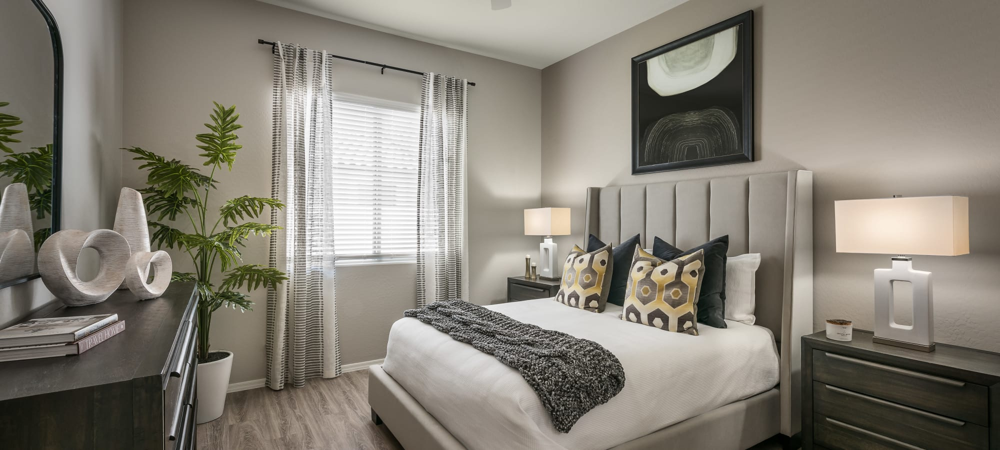 Luxurious bedroom at TerraLane at Canyon Trails in Goodyear, Arizona
