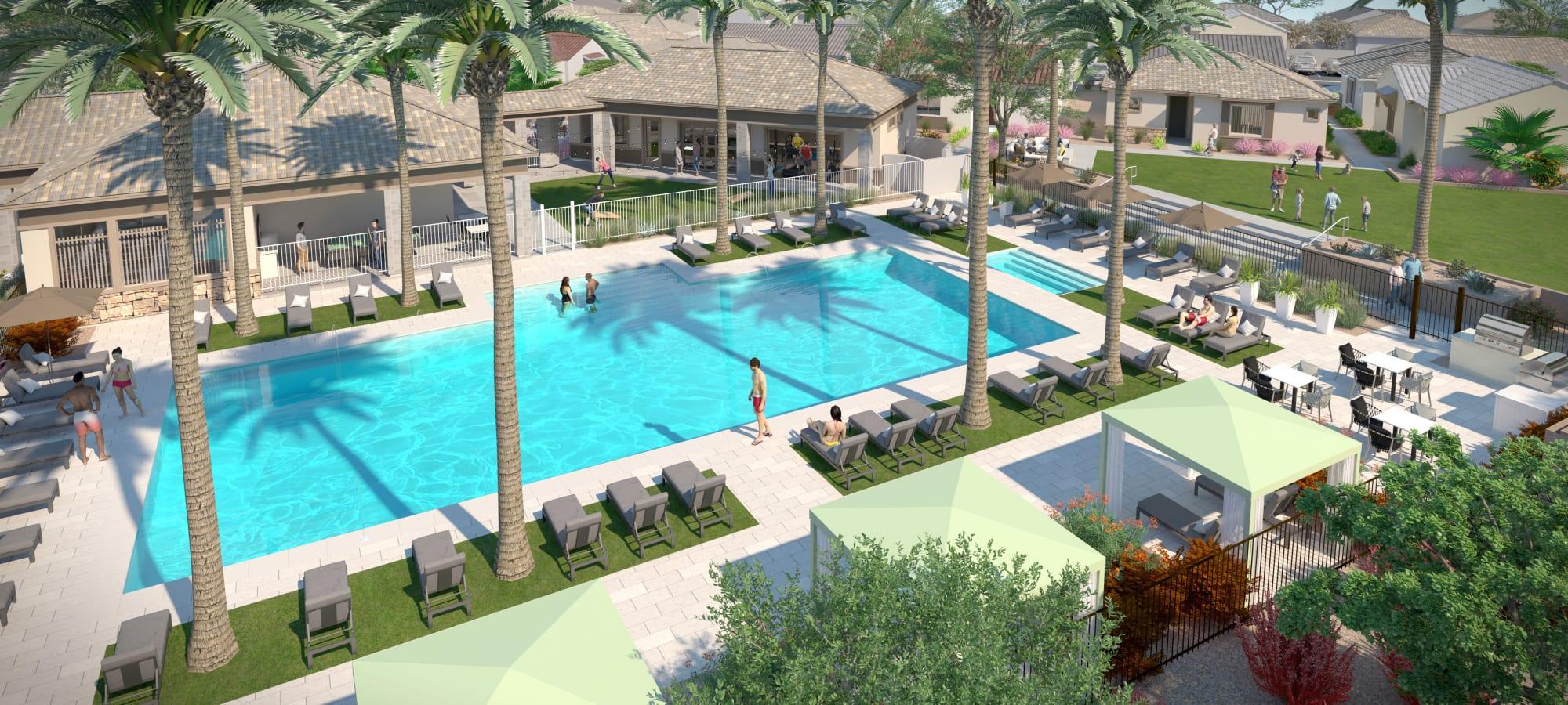 Luxury amenity spaces at Tavalo at Cadence in Mesa, Arizona