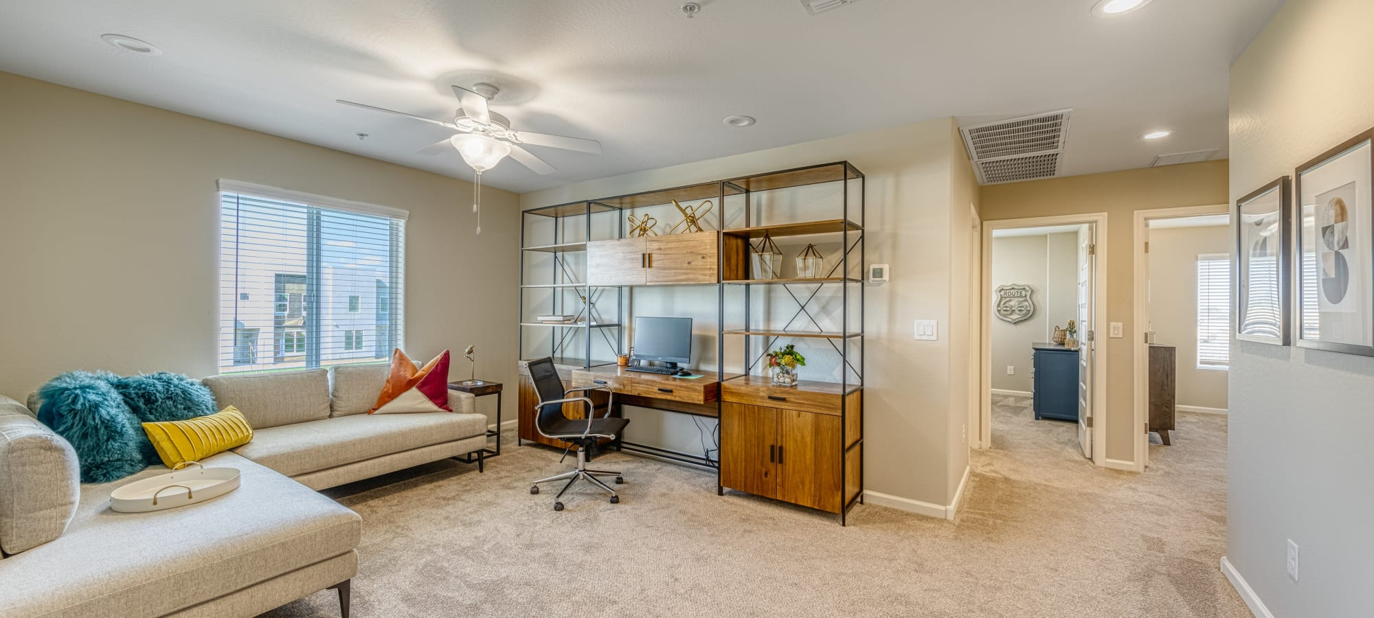 Open-concept living room at BB Living at Eastmark in Mesa, Arizona