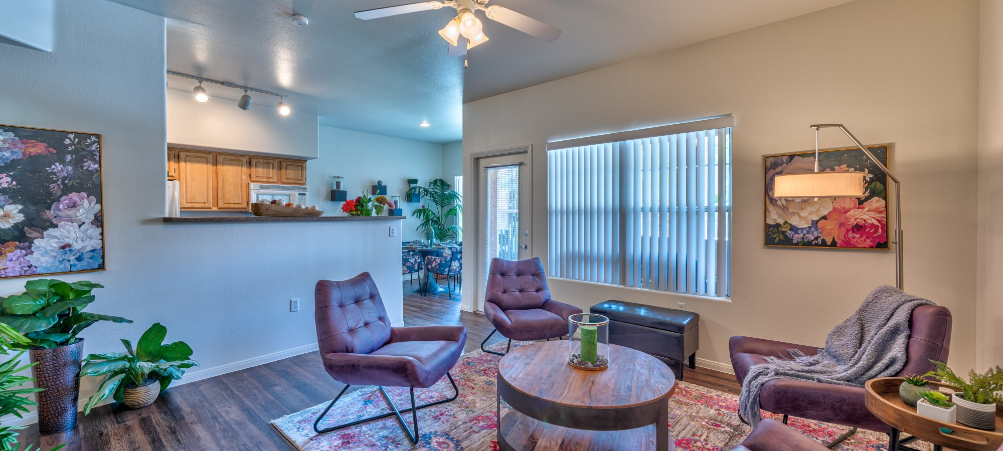 Comfortable living room at Shadow Hills at Lone Mountain in Las Vegas, Nevada
