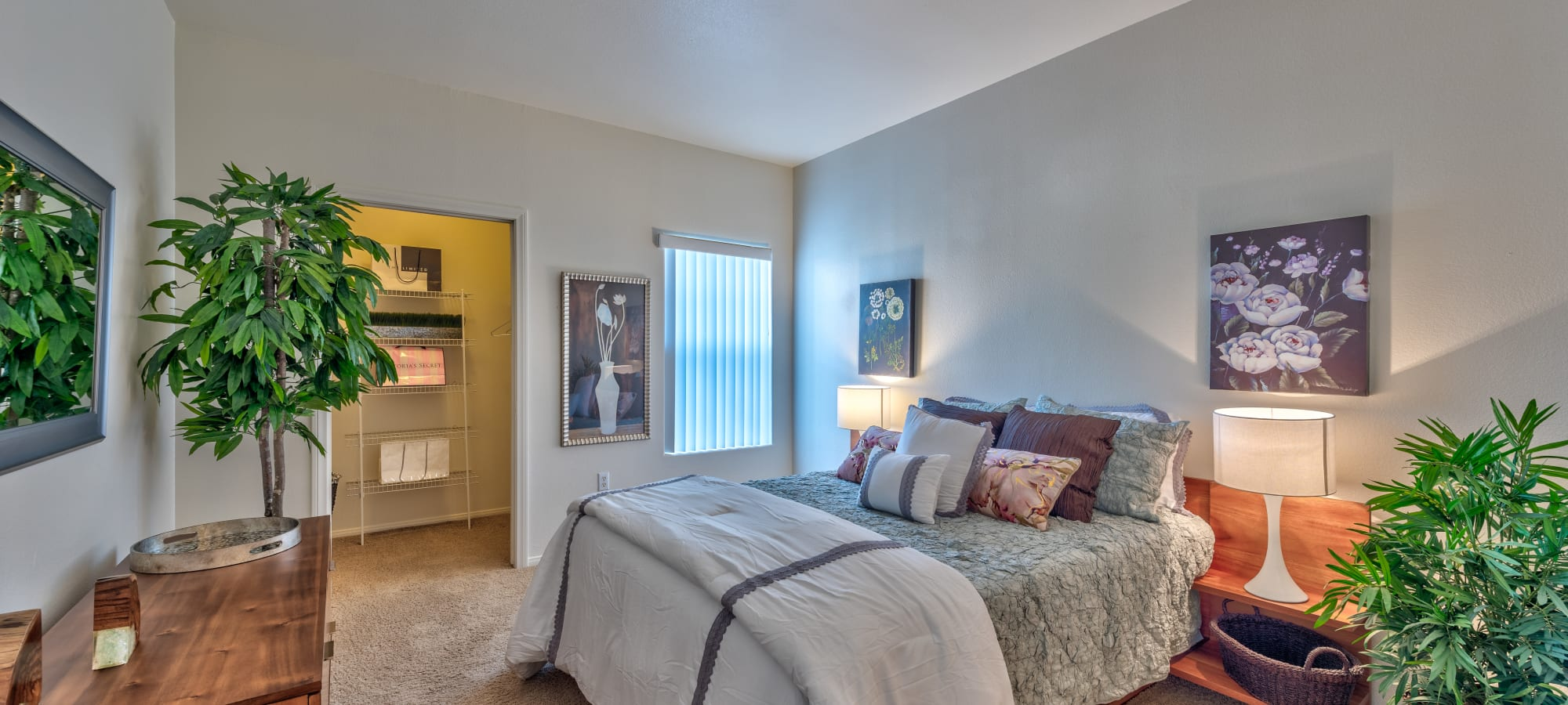 Inviting bedroom at Shadow Hills at Lone Mountain in Las Vegas, Nevada
