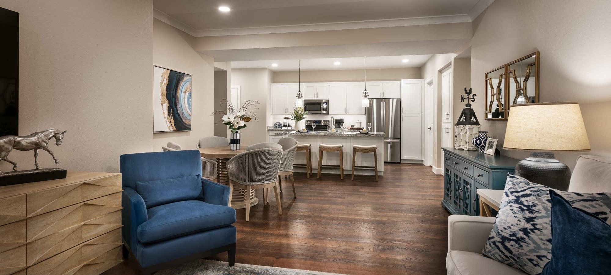 Open living room at San Artes in Scottsdale, Arizona