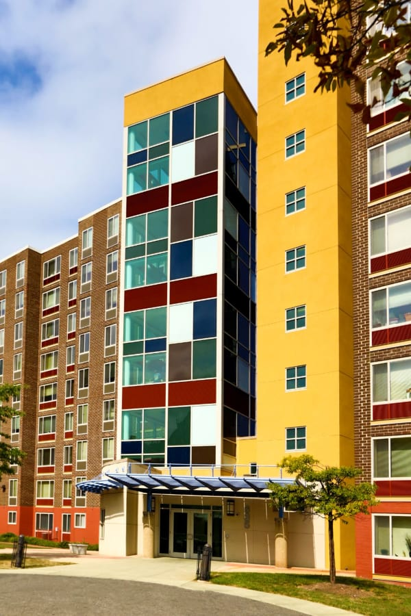 Colorful apartment building in Washington