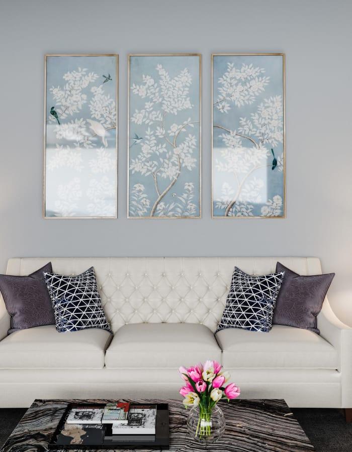 Beautiful living room at Glenmore Gardens in Calgary