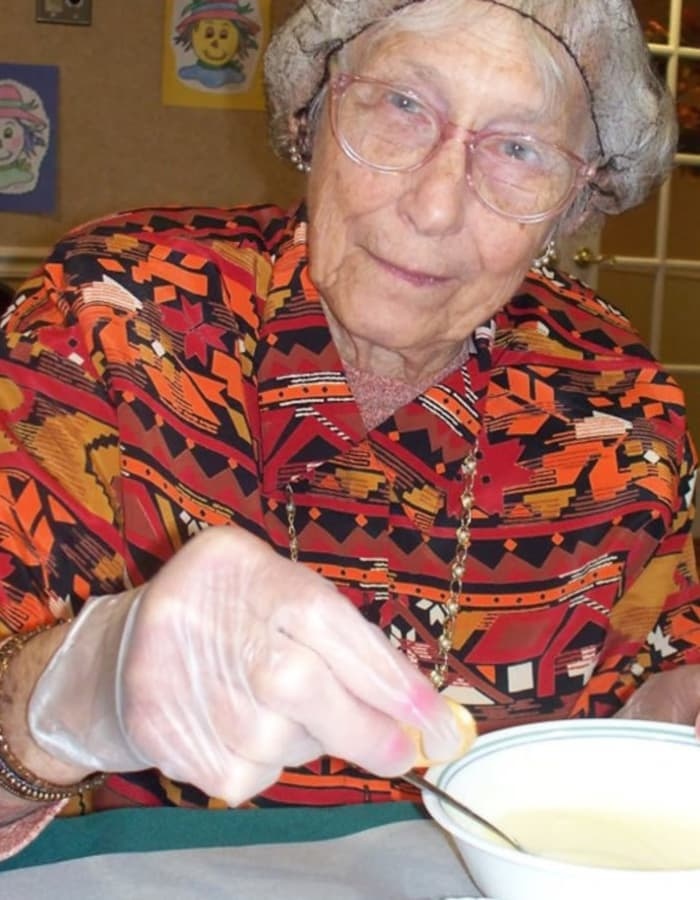 Resident at Heritage Hill Senior Community in Weatherly, Pennsylvania
