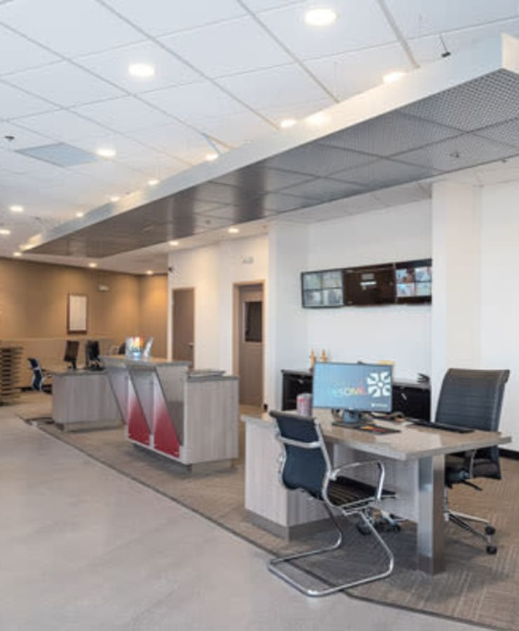 Interior of the leasing office at StorQuest Self Storage in Gardena, California