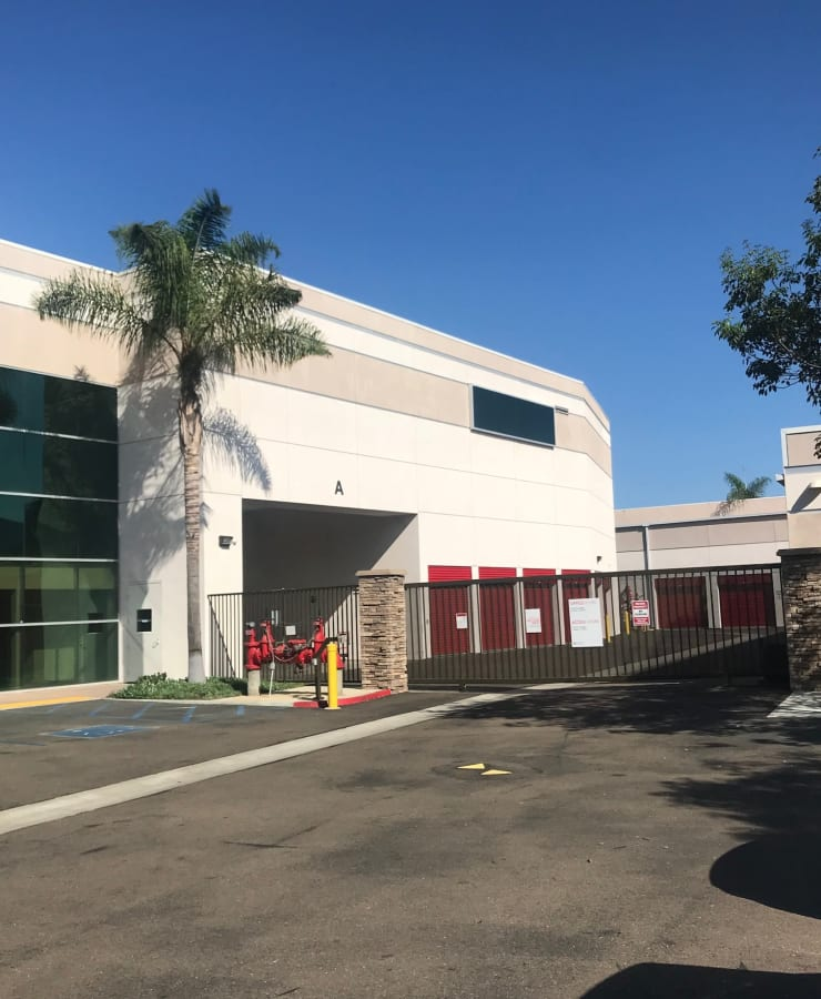 Facade and outdoor units at StorQuest Self Storage in Carlsbad, California