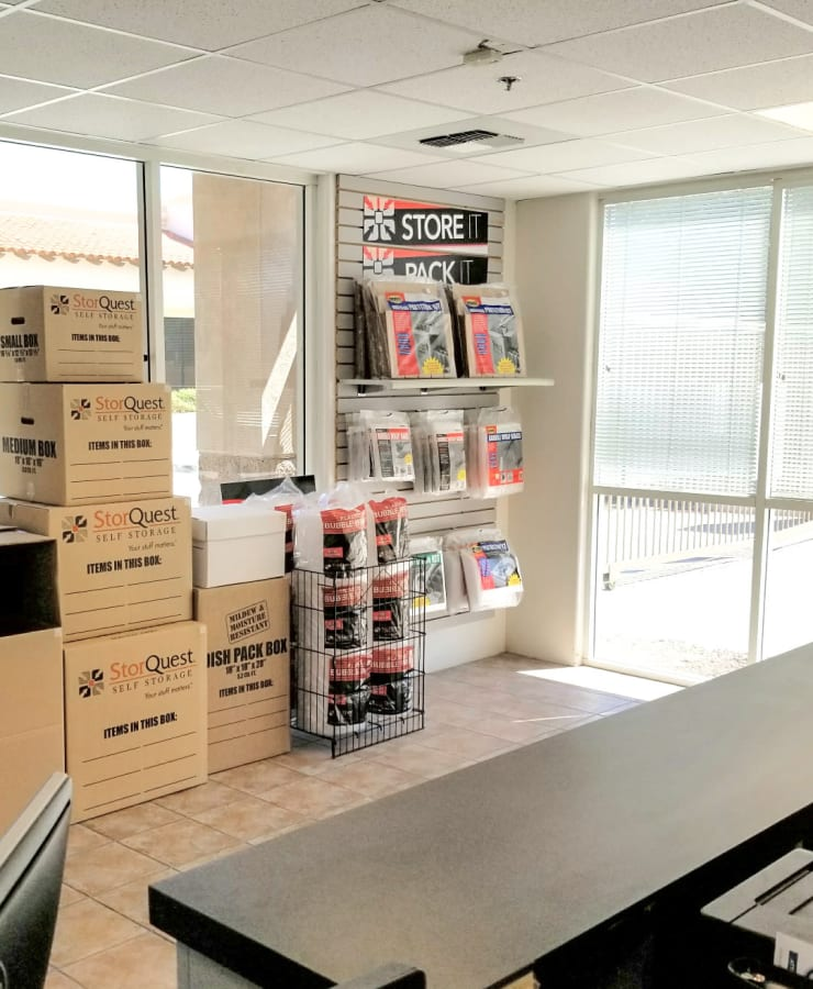Packing supplies available at StorQuest Self Storage in La Quinta, California