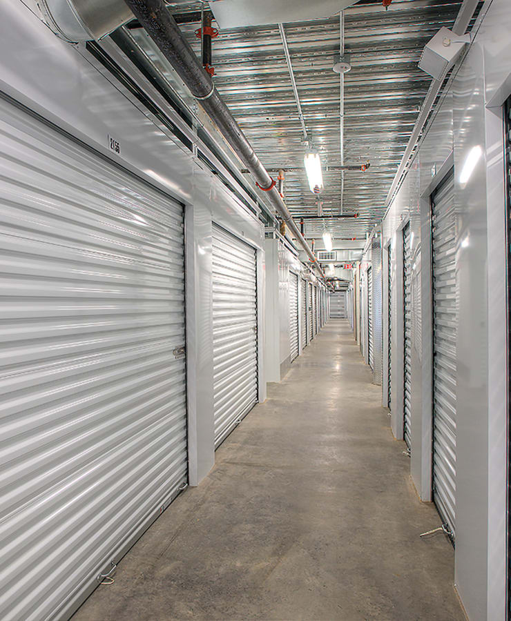 Small and medium indoor storage units at StorQuest Self Storage in Waipahu, Hawaii