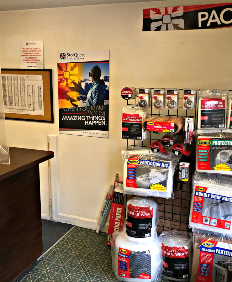 Packing supplies available at StorQuest Self Storage in Arvada, Colorado