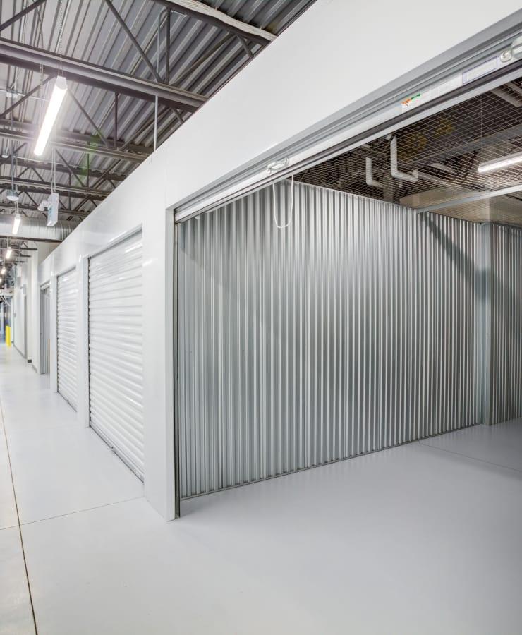 A large indoor unit with the door open at Hayward Self Storage in Hayward, California