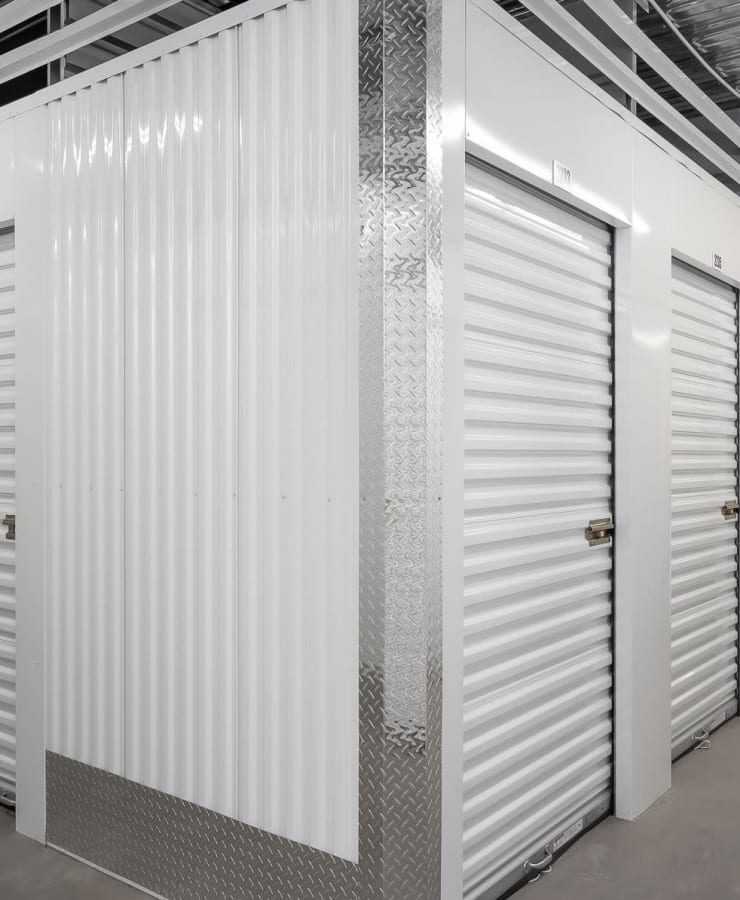 Indoor storage units at StorQuest Self Storage in Shirley, New York
