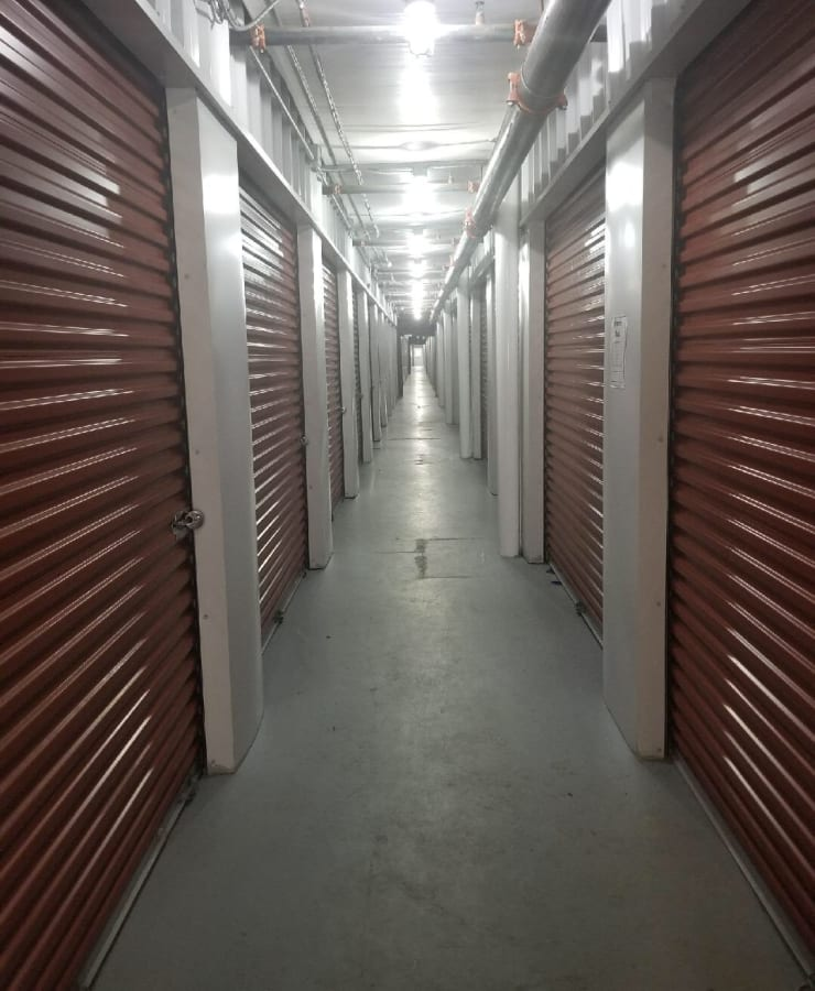 Interior access hallway at StorQuest Self Storage in Shirley, New York
