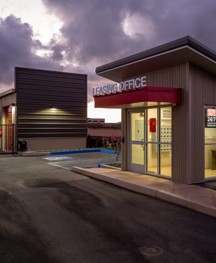 The exterior of the main entrance at StorQuest Express - Self Service Storage in Kapolei, Hawaii