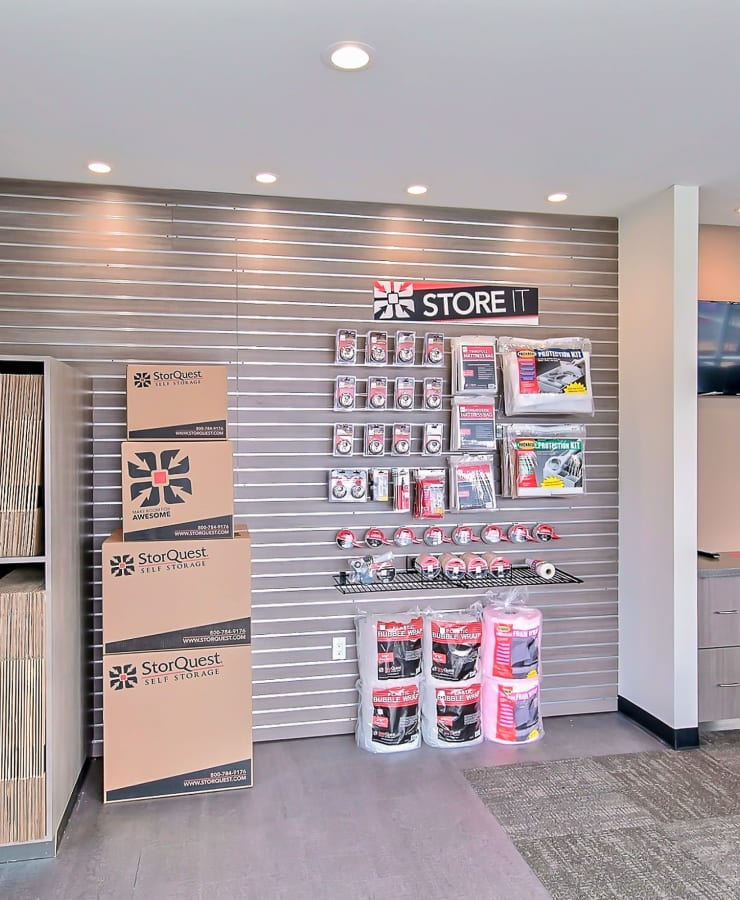 Packing supplies available at StorQuest Self Storage in Brentwood, California