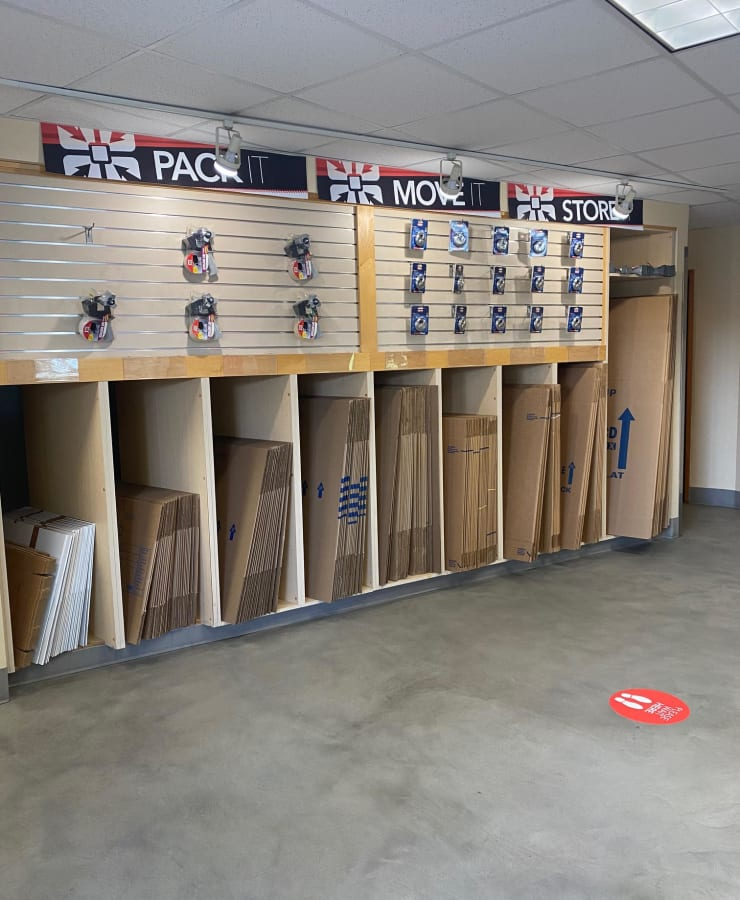 Merchandise at StorQuest Self Storage in Seattle, Washington