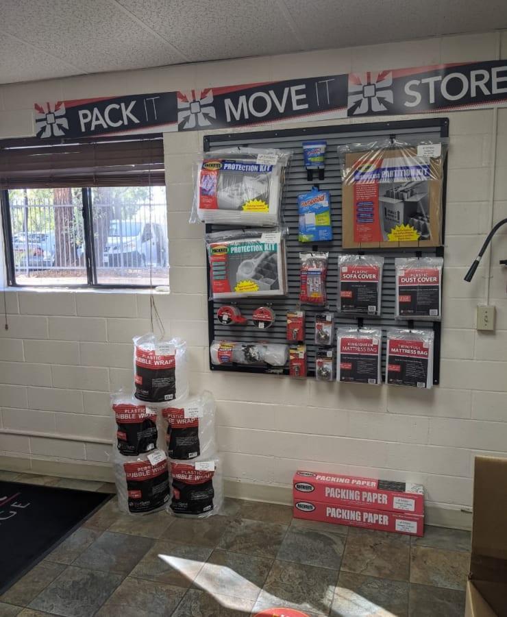 Moving supplies at StorQuest Self Storage in Westlake Village, California