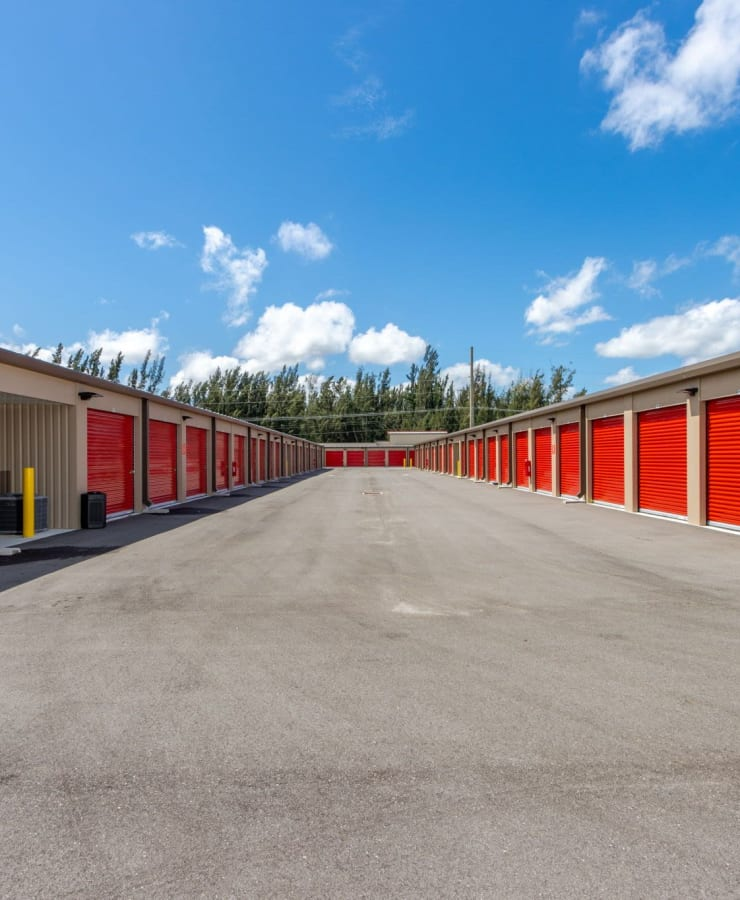 driveway at StorQuest Express Self Service Storage in Cape Coral, Florida