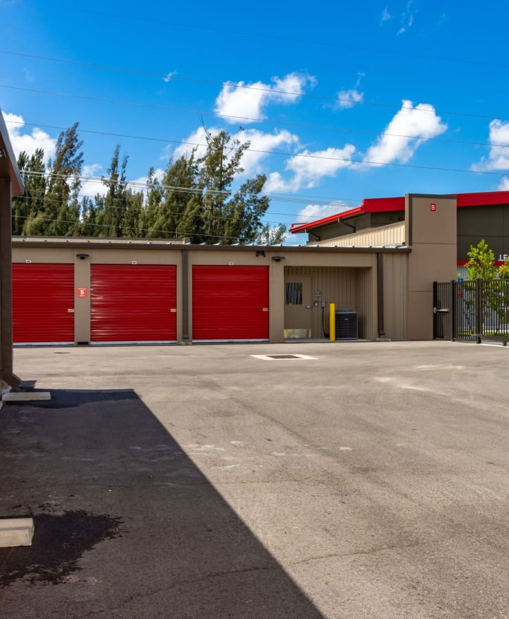 exterior units at StorQuest Express Self Service Storage in Cape Coral, Florida
