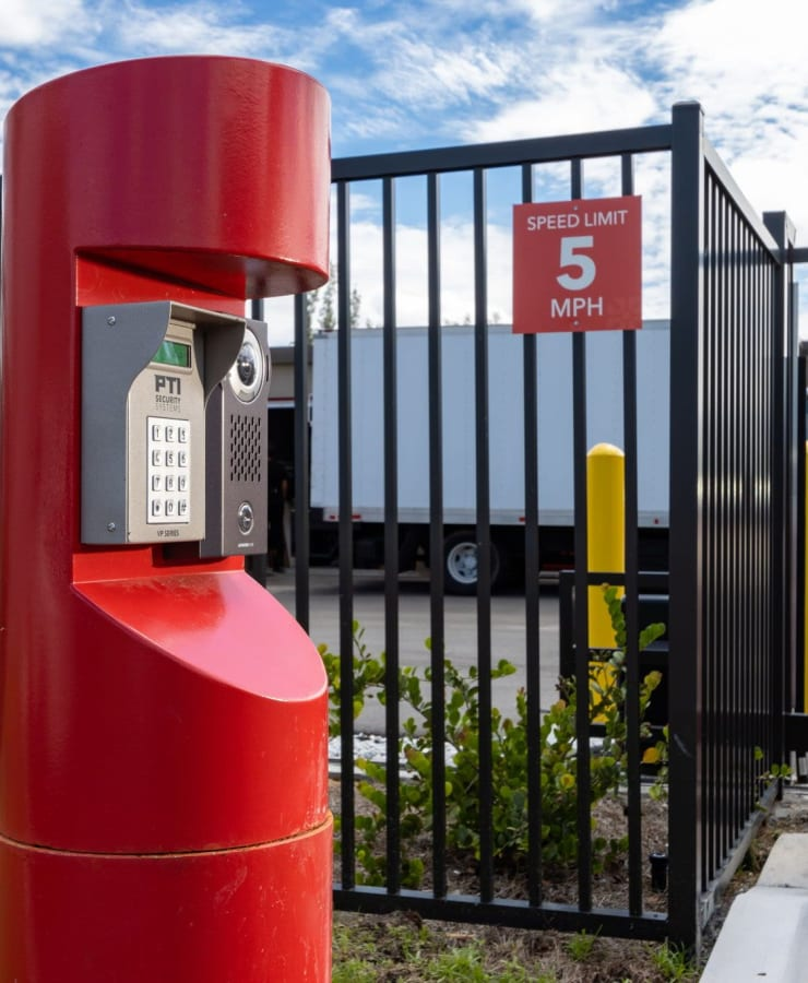 keypad entry at StorQuest Express Self Service Storage in Cape Coral, Florida