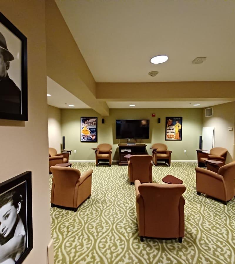 Lounge area at Pacifica Senior Living Menifee in Sun City, California.