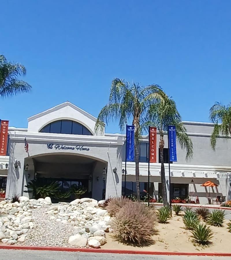 Exterior of Pacifica Senior Living Menifee in Sun City, California.