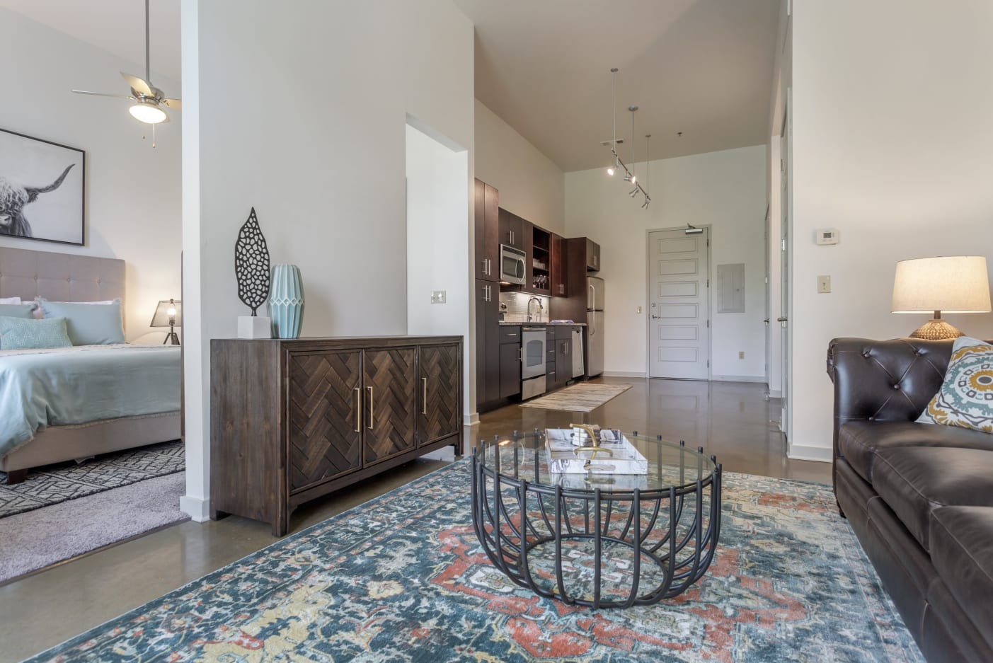 Open floor plans at 12 South Apartments