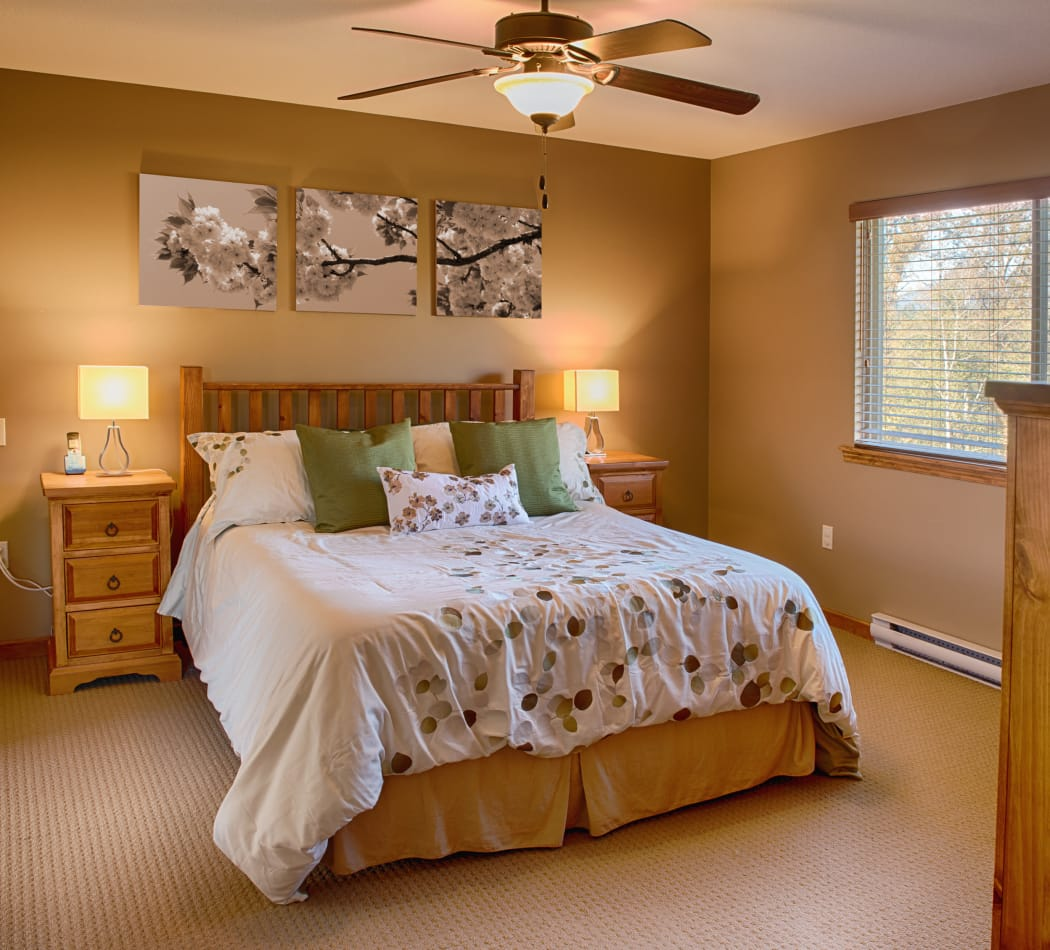 Master bedroom at LaFayette Gardens
