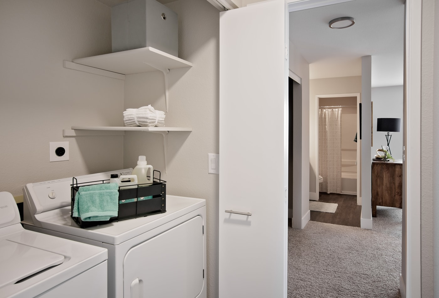 In-unit laundry in model home at MiLO at Mountain Park