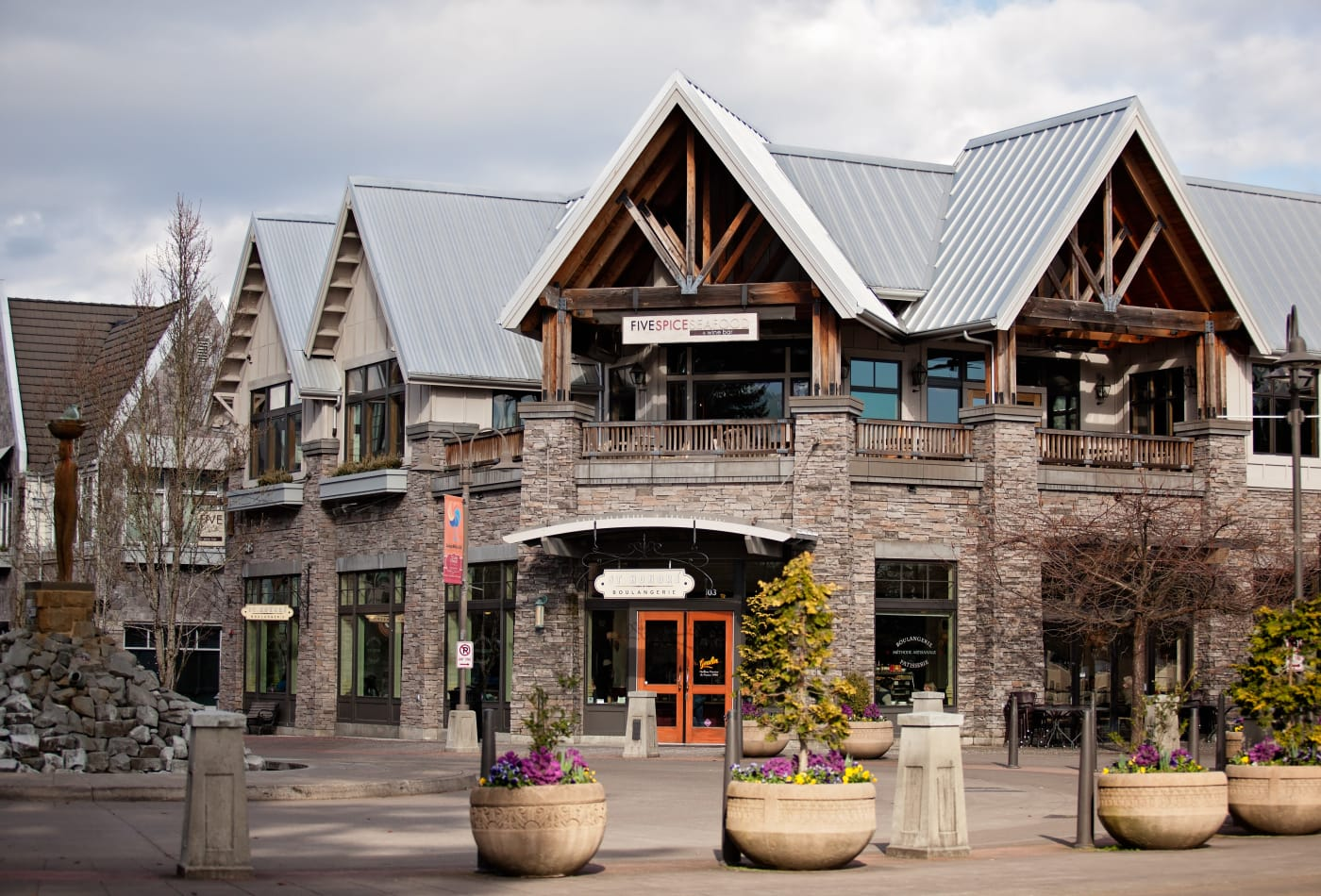 Downtown retail shopping near MiLO at Mountain Park in Lake Oswego