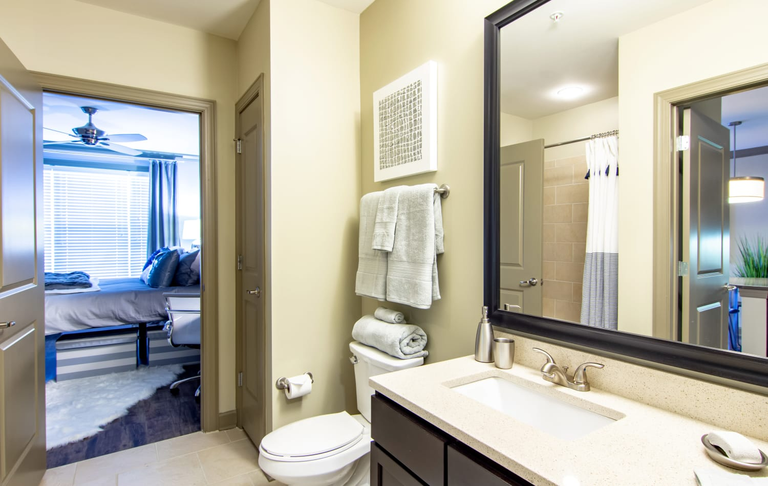 Emory Point offers a modern bathroom in Atlanta, Georgia