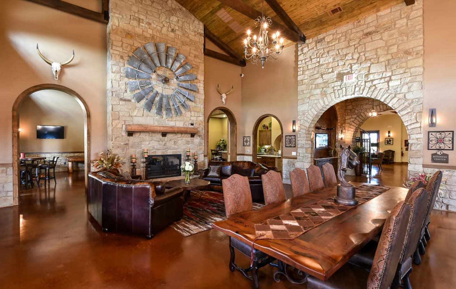 The clubhouse at Overlook Ranch in Fort Worth, Texas