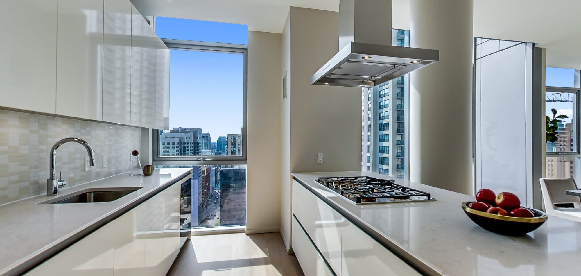 Kitchen at our luxury apartments at Residences at 8 East Huron in Chicago, Illinois