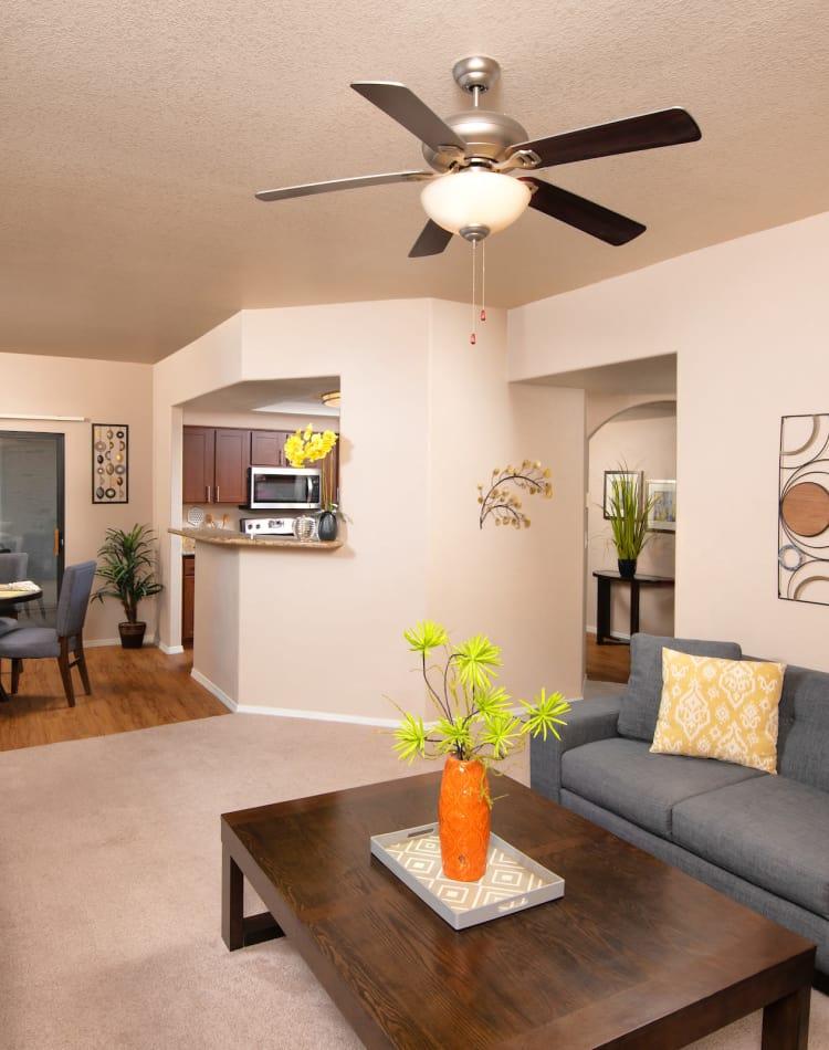 Model living room at San Antigua in McCormick Ranch