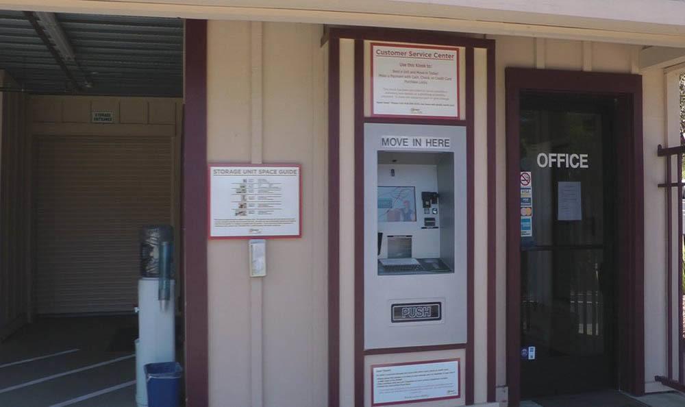 Self storage with kiosk in Los Gatos, California
