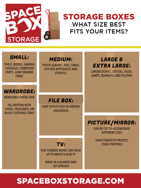 Storage Box Size Infographic