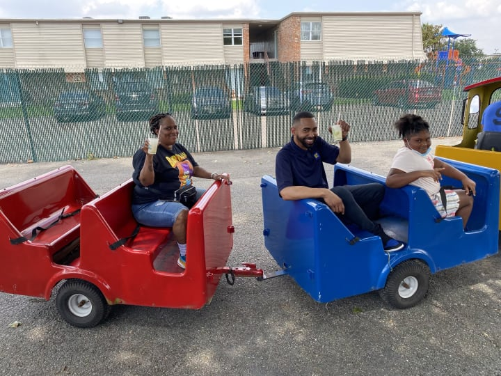 Employees on a Train Ride at Summerfield Apartment Homes