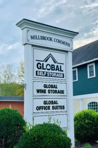 Signage at Global Self Storage in Millbrook, NY